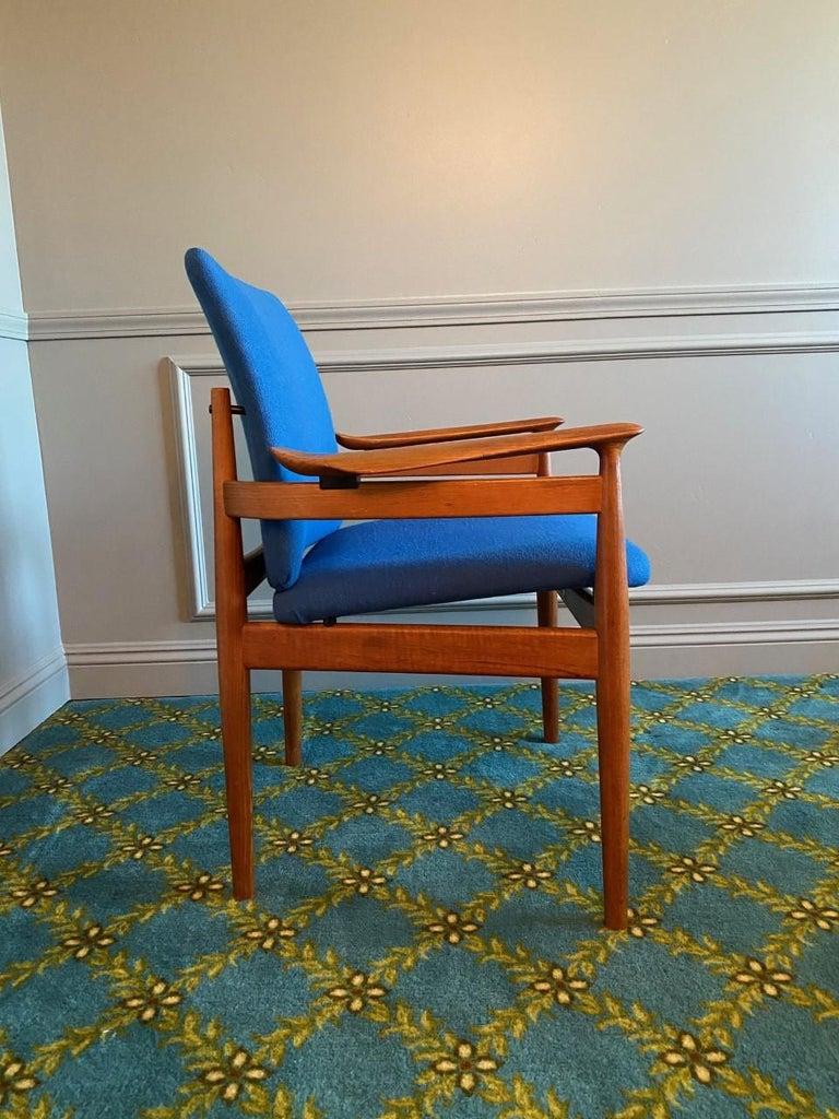 Mid-Century Modern Finn Juhl Model 192 Set of Midcentury Teak Chairs '1960s' For Sale