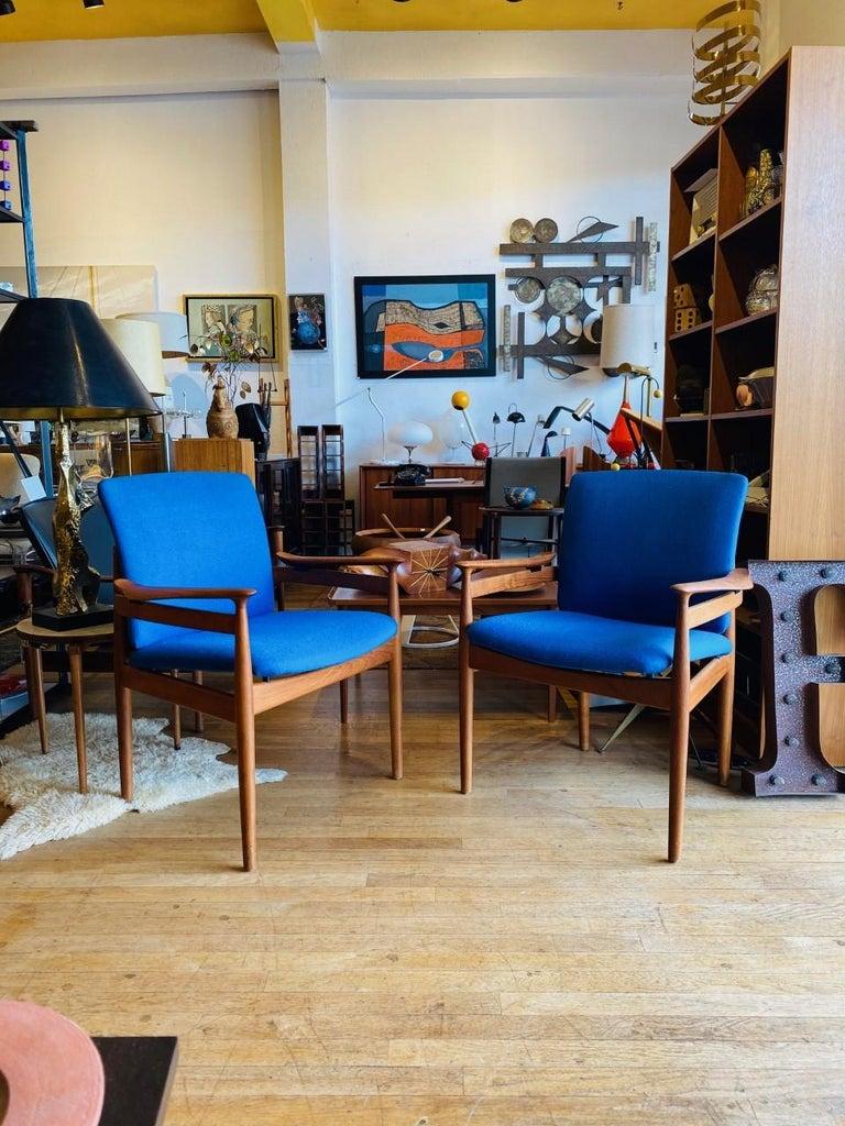 Finn Juhl Model 192 Set of Midcentury Teak Chairs '1960s' For Sale 1