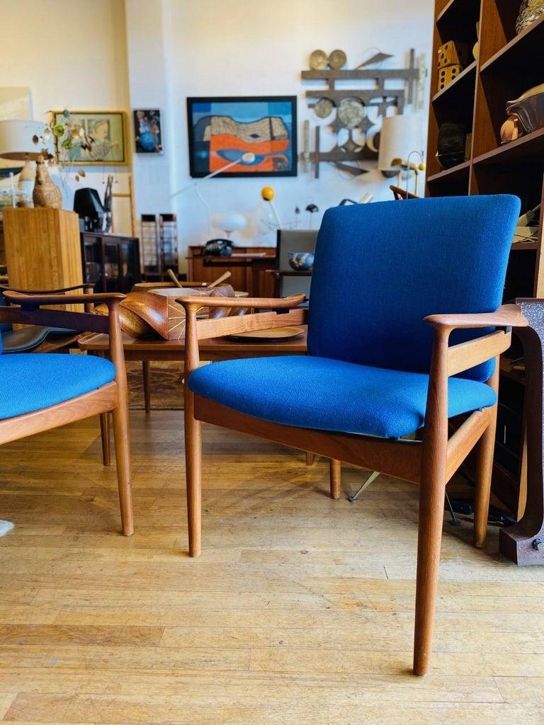 Finn Juhl Model 192 Set of Midcentury Teak Chairs '1960s' For Sale 2