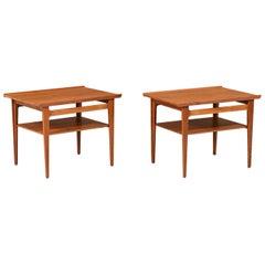 Finn Juhl Model-535 Teak Side Tables for France & Søn