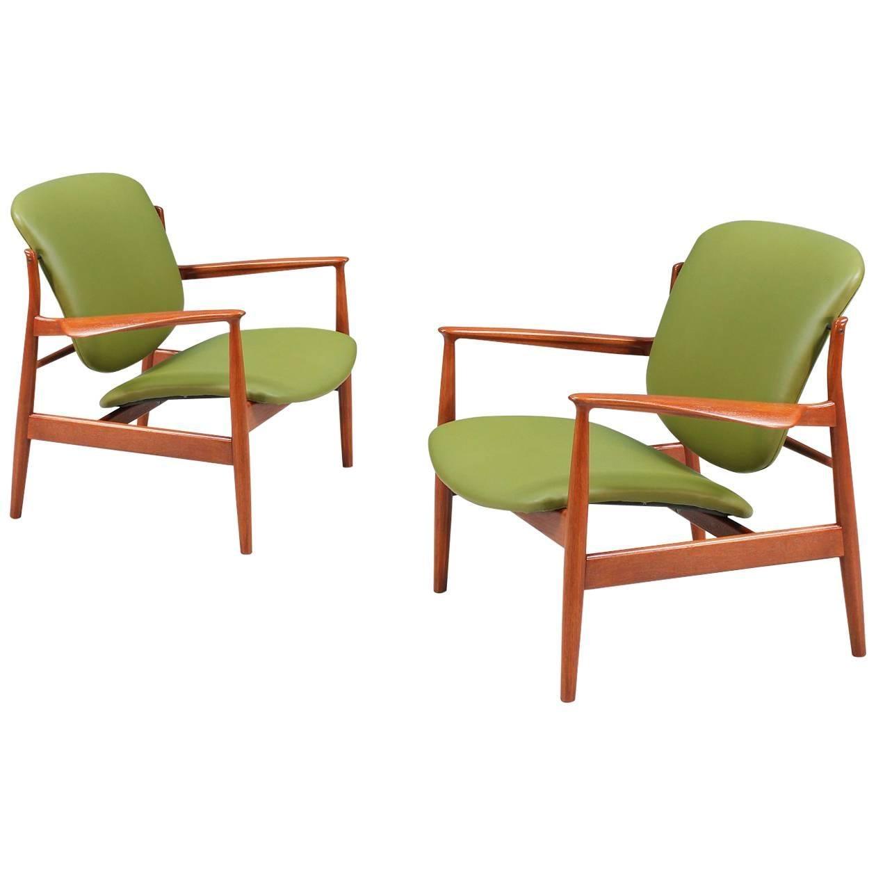 Finn Juhl Model FD-136 Lounge Chairs for France & Daverkosen
