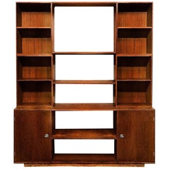 Finn Juhl Modular Teak 'Cresco' Shelving France & Sons Danish Modern Wall Unit