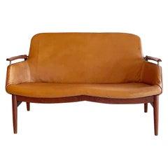 Finn Juhl Niels Vodder NV 53 Sofa in Leather