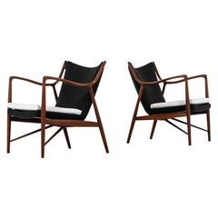Finn Juhl NV-45 Easy Chairs by Niels Vodder in Denmark