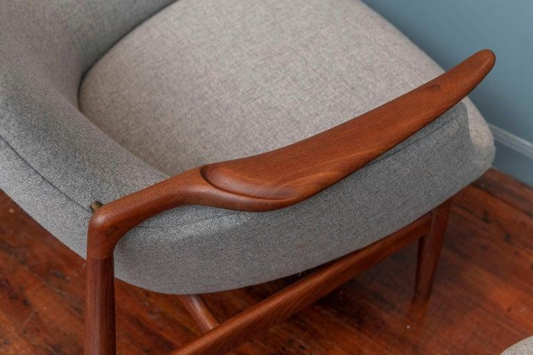 Finn Juhl NV-53 Lounge Chairs for Niels Vodder For Sale 1
