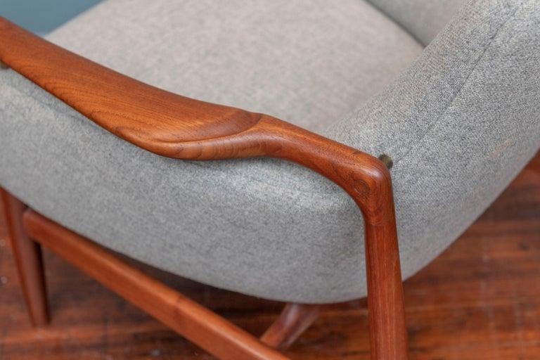 Finn Juhl NV-53 Lounge Chairs for Niels Vodder For Sale 2