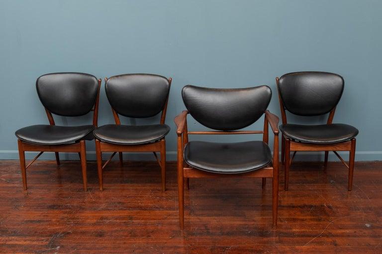 Scandinavian Modern Finn Juhl NV-51 Dining Chairs for Baker For Sale