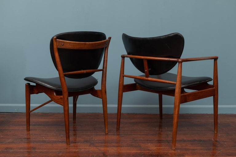 Mid-20th Century Finn Juhl NV-51 Dining Chairs for Baker For Sale