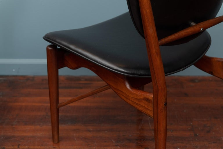 Walnut Finn Juhl NV-51 Dining Chairs for Baker For Sale