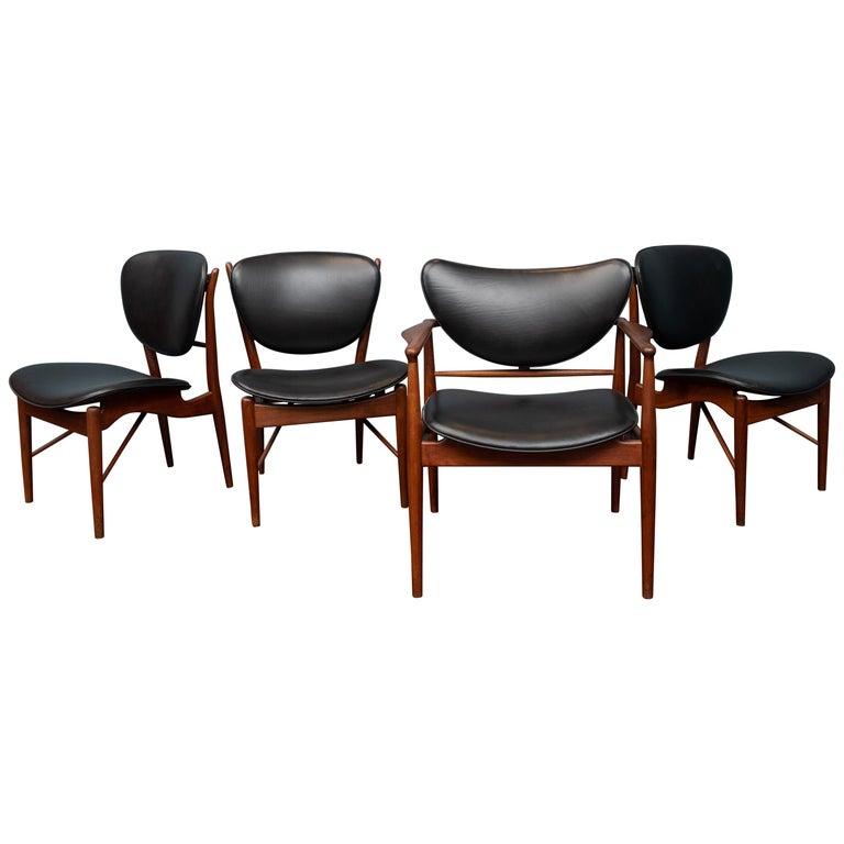Finn Juhl NV-51 Dining Chairs for Baker For Sale