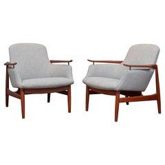 Finn Juhl NV-53 Lounge Chairs for Niels Vodder