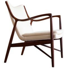 Finn Juhl NV45 chair in Rosewood for Niels Vodder, 1945