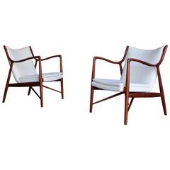Finn Juhl NV45 Lounge Chairs for Niels Vodder, 1945
