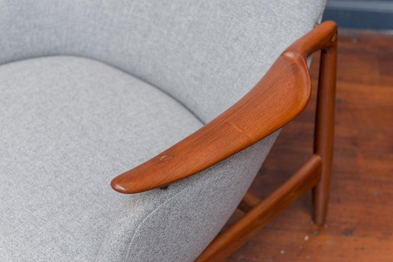 Danish Finn Juhl NV53 Lounge Chairs for Niels Vodder For Sale