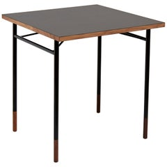 Finn Juhl Nyhavn Desk Walnut Black Lino