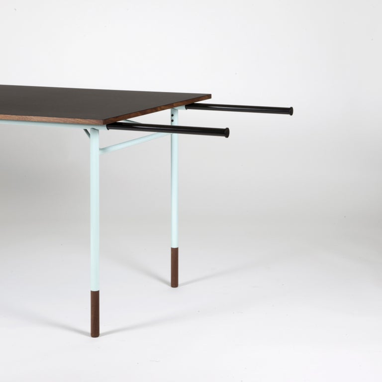 Finn Juhl Nyhavn Dining Table Black Lino, Blue, Walnut In New Condition For Sale In Barcelona, Barcelona