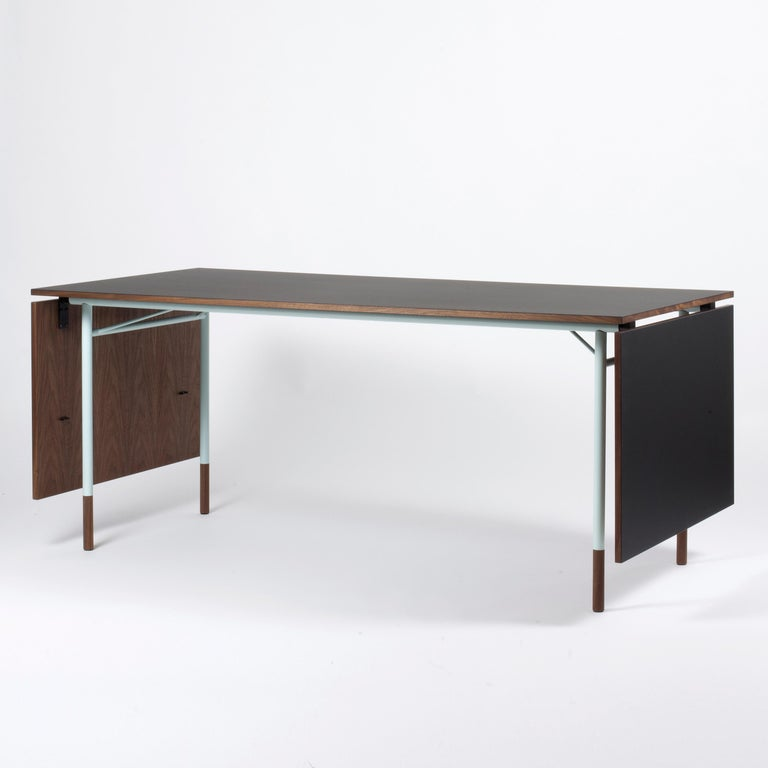 Contemporary Finn Juhl Nyhavn Dining Table Black Lino, Blue, Walnut For Sale