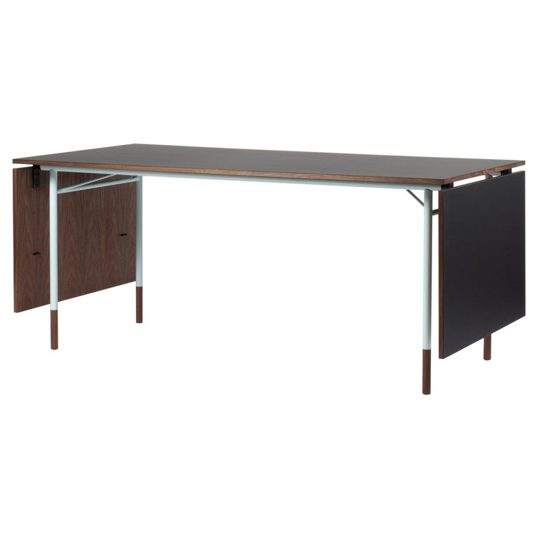 Finn Juhl Nyhavn Dining Table Black Lino, Blue, Walnut For Sale