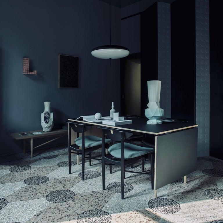 Finn Juhl Nyhavn Dining Table Black Lino, Orange, Walnut For Sale 6