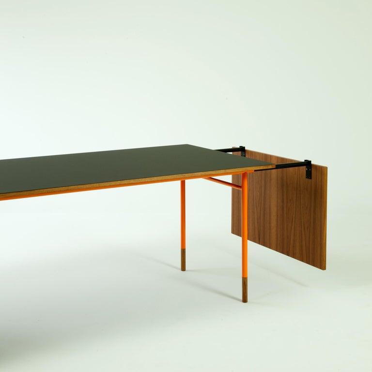 Contemporary Finn Juhl Nyhavn Dining Table Black Lino, Orange, Walnut For Sale