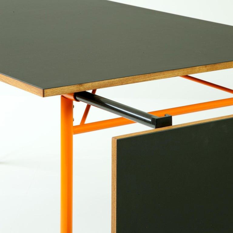 Finn Juhl Nyhavn Dining Table Black Lino, Orange, Walnut For Sale 1