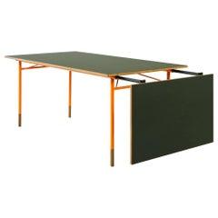 Finn Juhl Nyhavn Dining Table Black Lino, Orange, Walnut