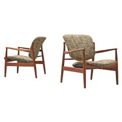 Finn Juhl Pair of Easy Chairs Model 136