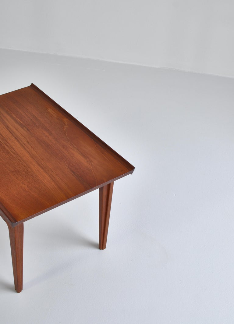 Finn Juhl Pair of Side Tables in Solid Teakwood by France & Son, 1959 For Sale 4