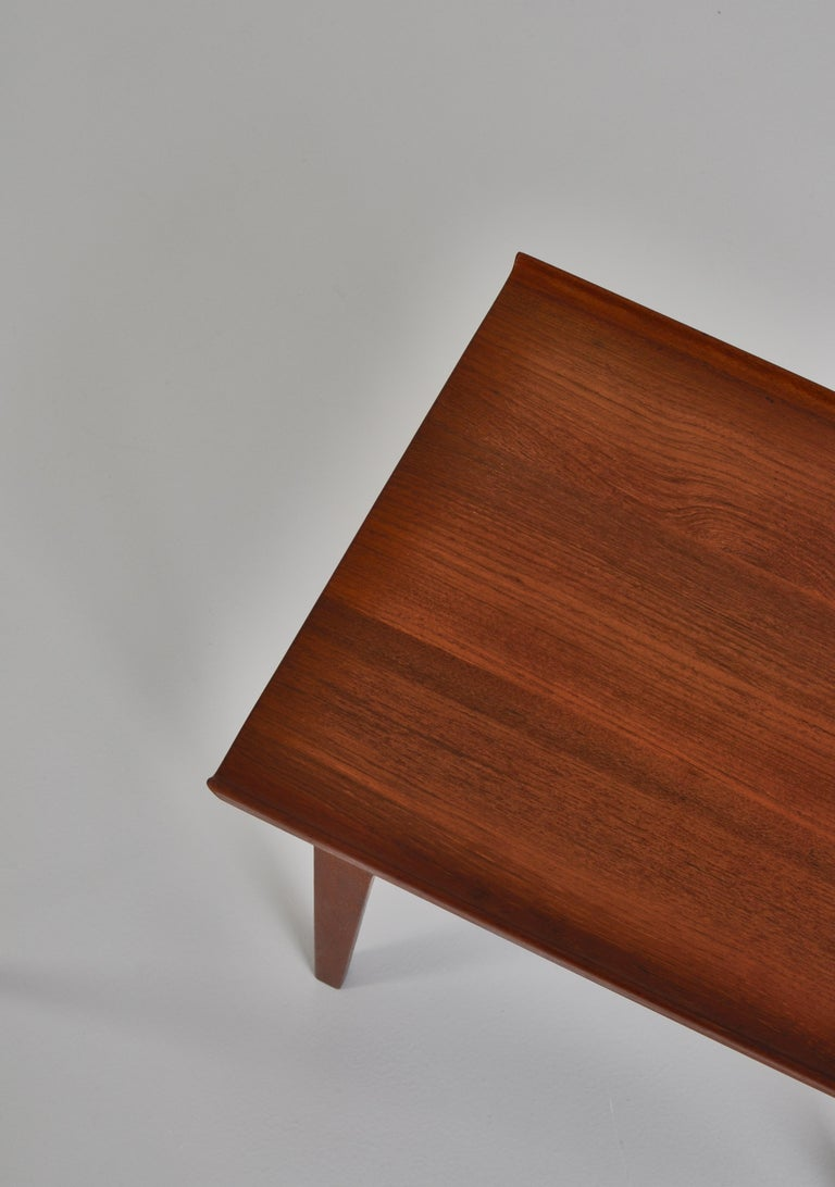 Finn Juhl Pair of Side Tables in Solid Teakwood by France & Son, 1959 For Sale 5