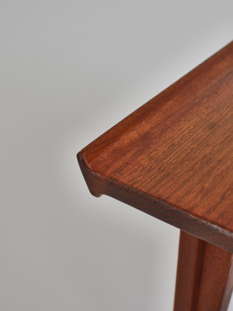 Finn Juhl Pair of Side Tables in Solid Teakwood by France & Son, 1959 For Sale 7