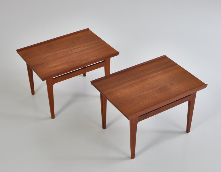 Finn Juhl Pair of Side Tables in Solid Teakwood by France & Son, 1959 For Sale 9