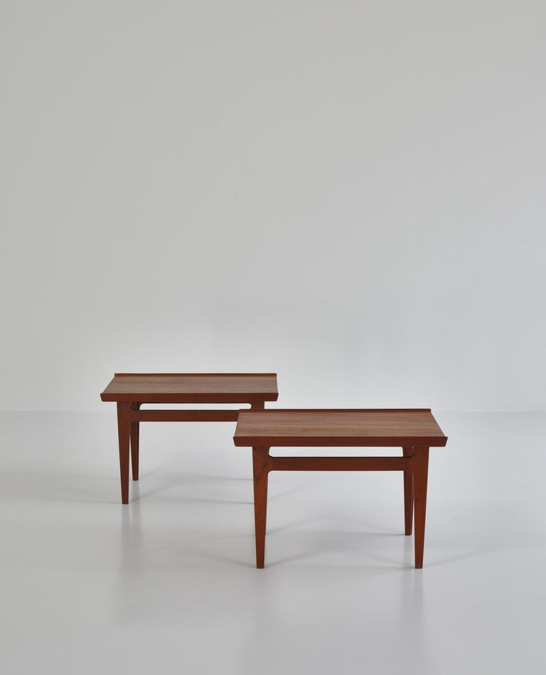 Finn Juhl Pair of Side Tables in Solid Teakwood by France & Son, 1959 For Sale 11