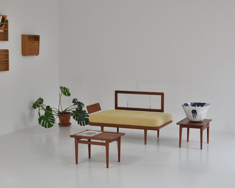 Finn Juhl Pair of Side Tables in Solid Teakwood by France & Son, 1959 For Sale 13