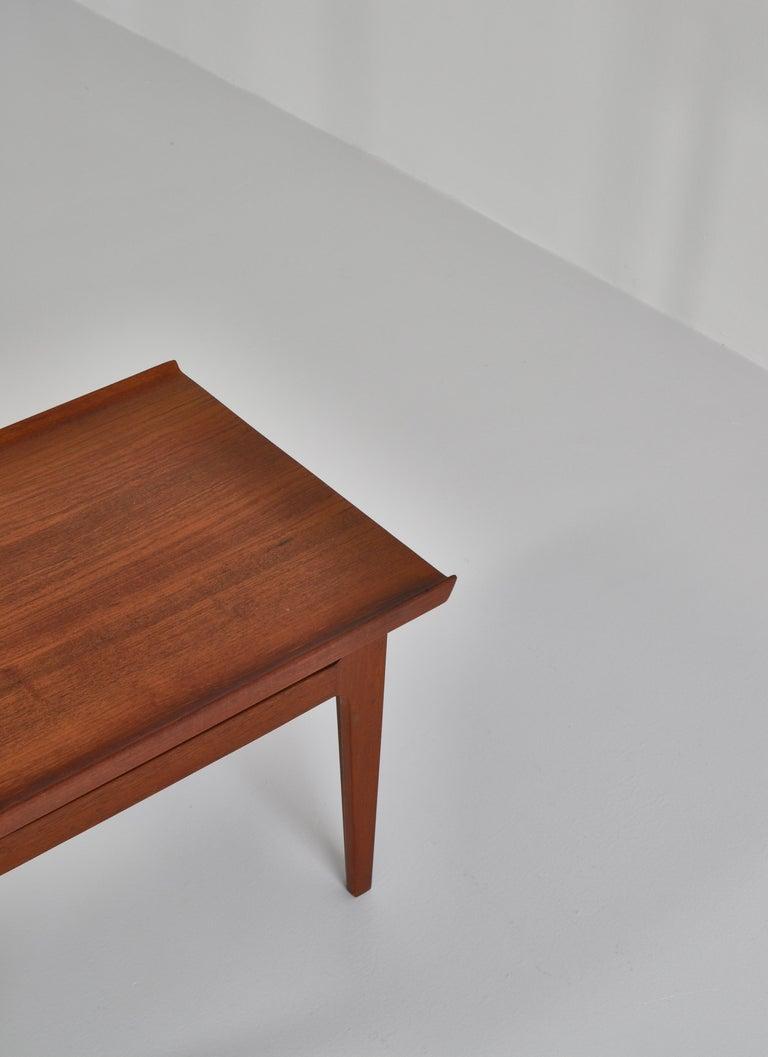 Danish Finn Juhl Pair of Side Tables in Solid Teakwood by France & Son, 1959 For Sale
