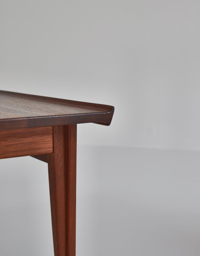Mid-20th Century Finn Juhl Pair of Side Tables in Solid Teakwood by France & Son, 1959 For Sale