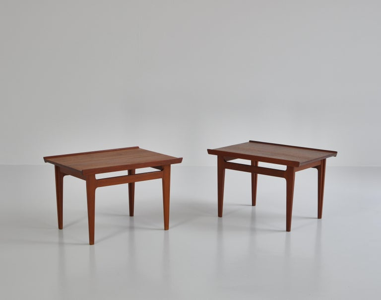 Finn Juhl Pair of Side Tables in Solid Teakwood by France & Son, 1959 For Sale 1