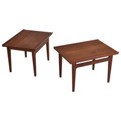 Finn Juhl Pair of Side Tables in Solid Teakwood by France & Son, 1959