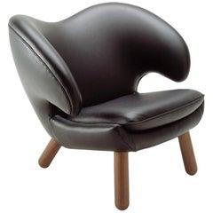 Finn Juhl Pelican Black Leather Chair Pelican-Passion