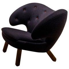Finn Juhl Pelican Chair, Fabric and Wood