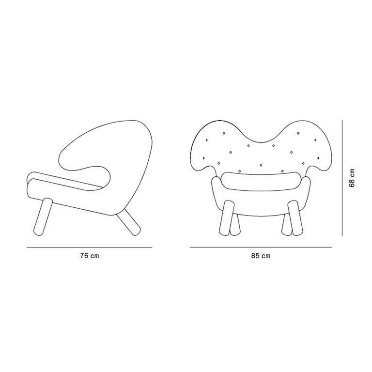 Finn Juhl Pelican Chair Grey Divina Melange For Sale 4