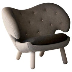 Finn Juhl Pelican Chair Fabric and Wood