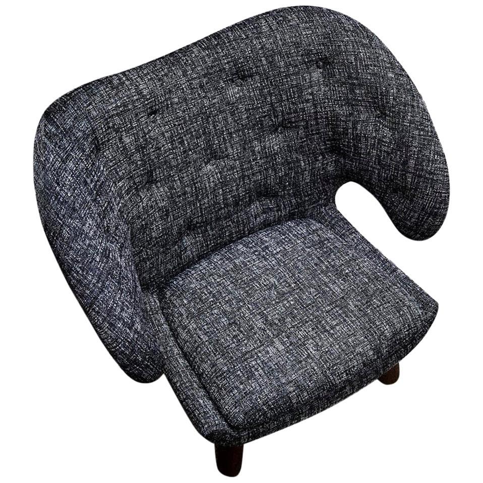 Finn Juhl Pelican Chair Upholstered in Fabric