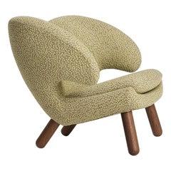 Finn Juhl Pelican Chair Upholstered in Raf Simons Fabric