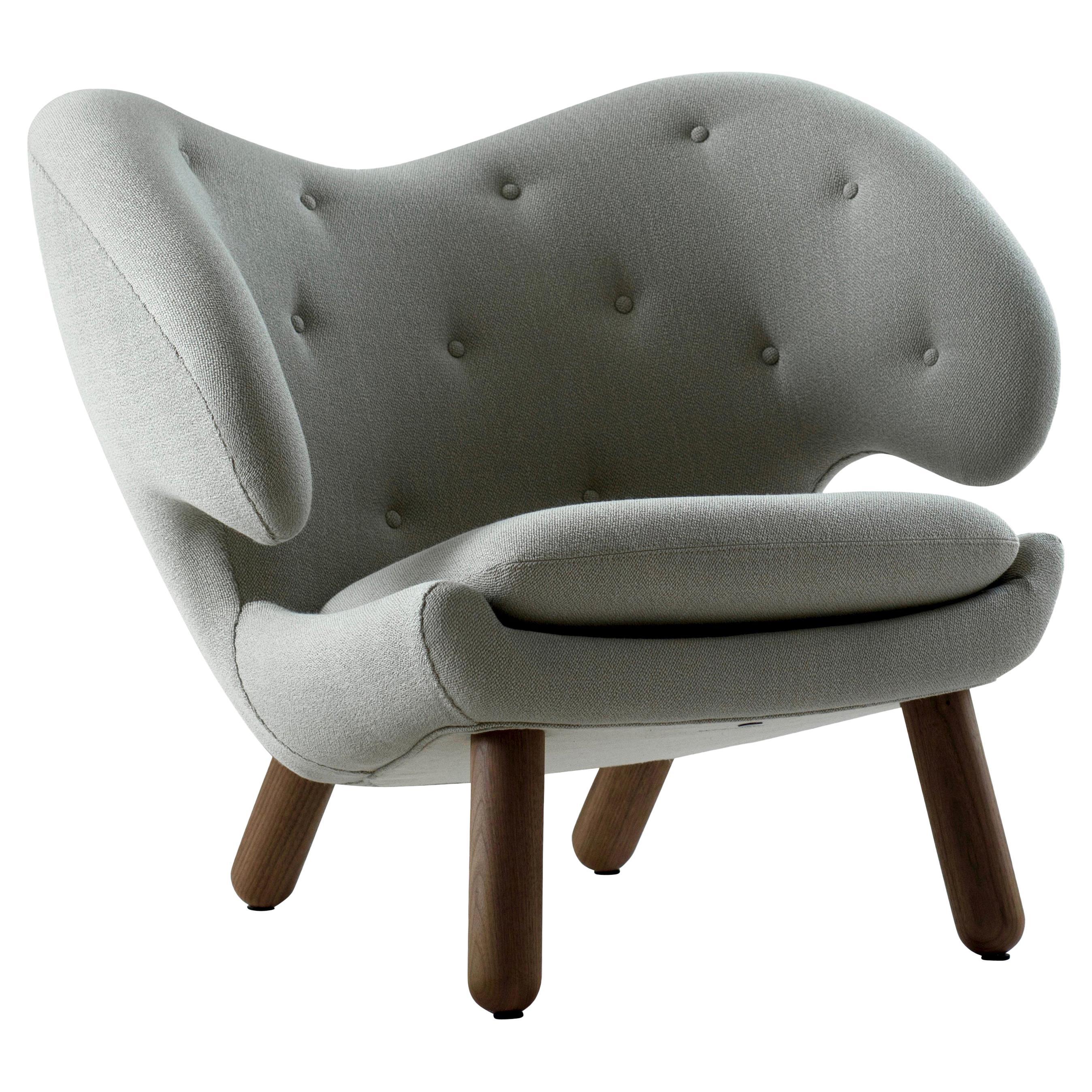 Finn Juhl Pelican Chair, Wood and Fabric