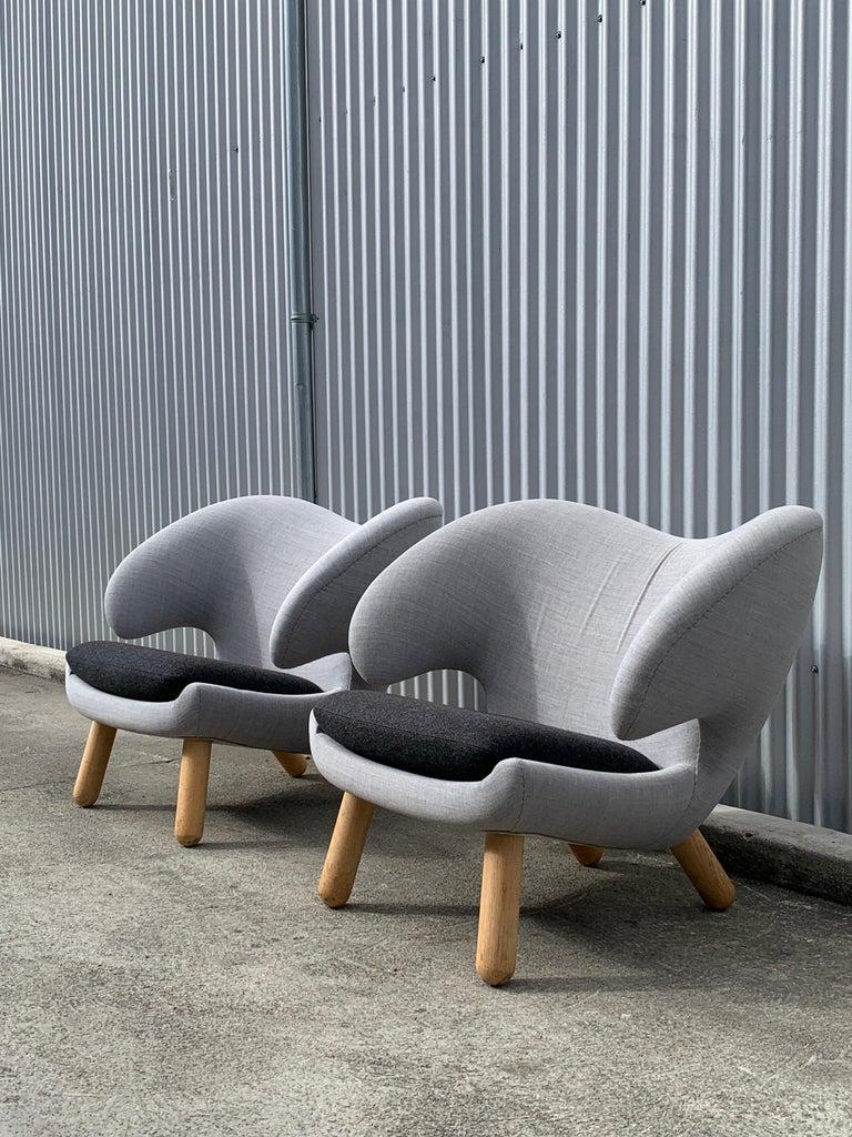 Mid-20th Century Finn Juhl Pelican Chairs, a Pair