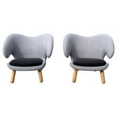 Finn Juhl Pelican Chairs, a Pair