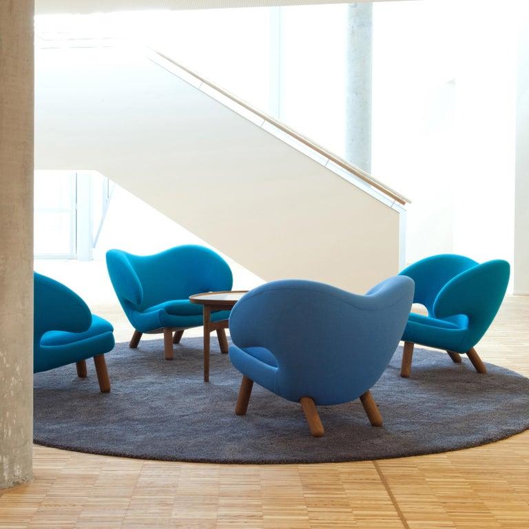 Upholstery Finn Juhl Purple Pelican Chair Walnut, Purple Fabric Divina  For Sale