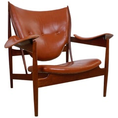 Finn Juhl Rare 'Chieftain' Chair in Teak and Leather for Niels Vodder, 1949