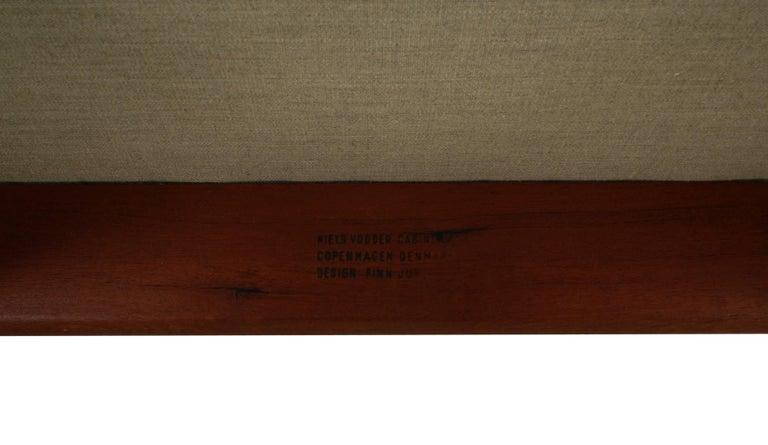 Finn Juhl Rare NV53 Three-Seat Sofa for Niels Vodder For Sale 7