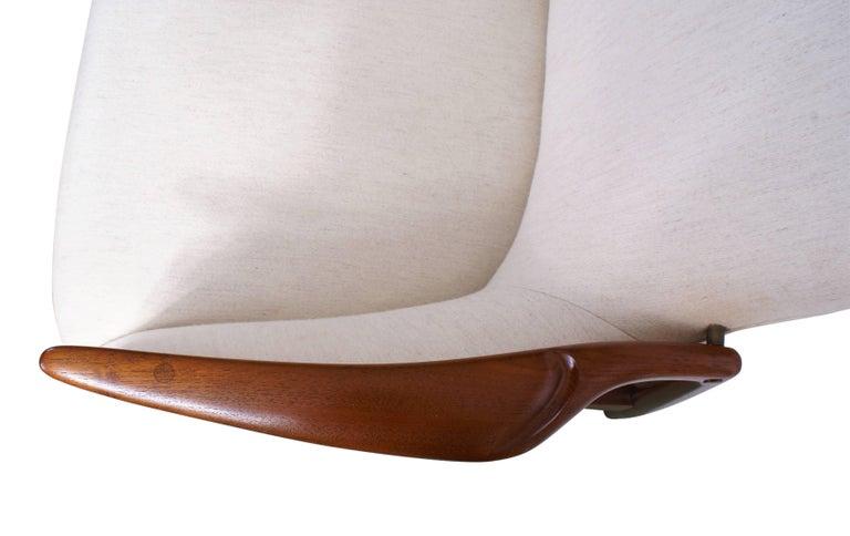Danish Finn Juhl Rare NV53 Three-Seat Sofa for Niels Vodder For Sale